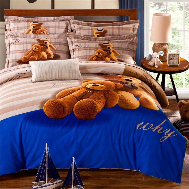 teddy bear bedding set kids king size queen twin quilt doona duvet cover designer bed in bedroom queen sets kids twin
