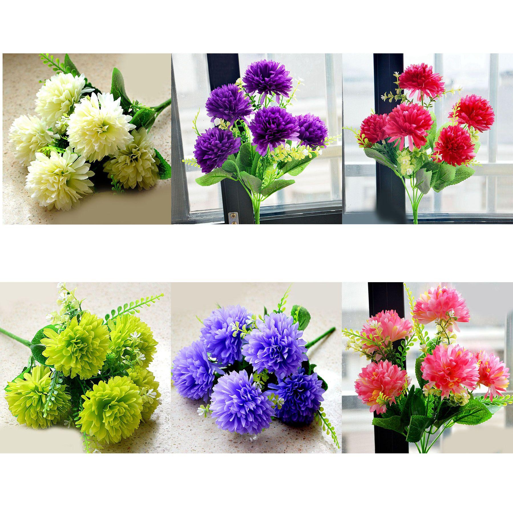 2017 Wholesale Artificial Flowers Artificial Flower 5 Heads Hydrangea Ball Da