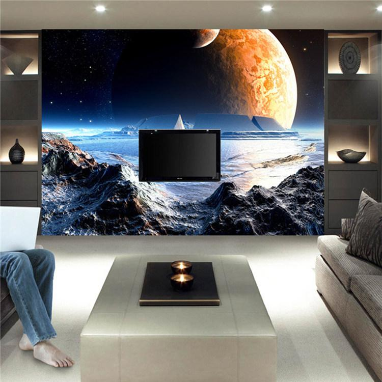 Custom Large Size Mural Game Scene Moon Space Photo Wallpaper Canvas Silk  Wall Stickers Bedroom Hallway Ceiling Childrens Room Free Ship Modern  Wallpaper ...