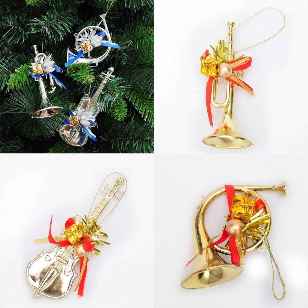 Musical instruments ornaments - 3pcs Christmas Tree Xmas Baubles Decoration Ornaments Light Musical Instrument Hot Sale