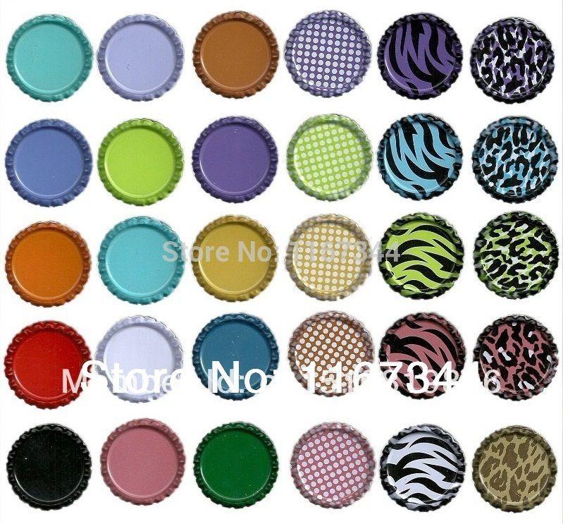 2017 wholesale flattened chrome bottle caps made of for Bottle cap designs