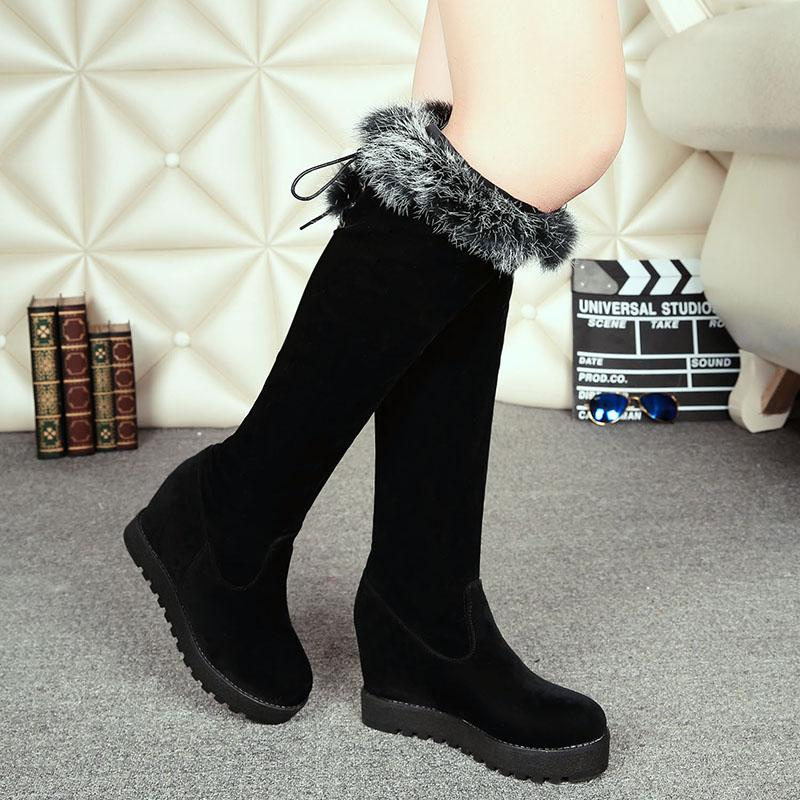 The Female Winter Snow Boots Elegant Flat Comfort After Head Tie ...