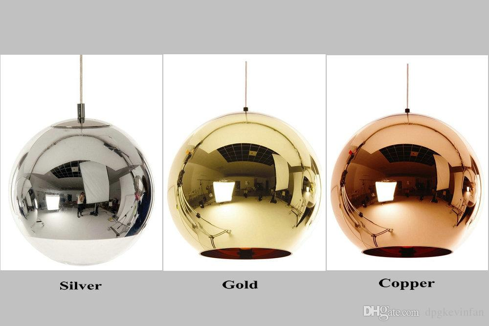 Mirror Ball Pendant Plated Glass Ball Chandelier Modern Art Lighting Tom  Dixon Plating Ball Pendant Lights Silver Golden Bronze Tom Dixon Mirror  Light Tom ...