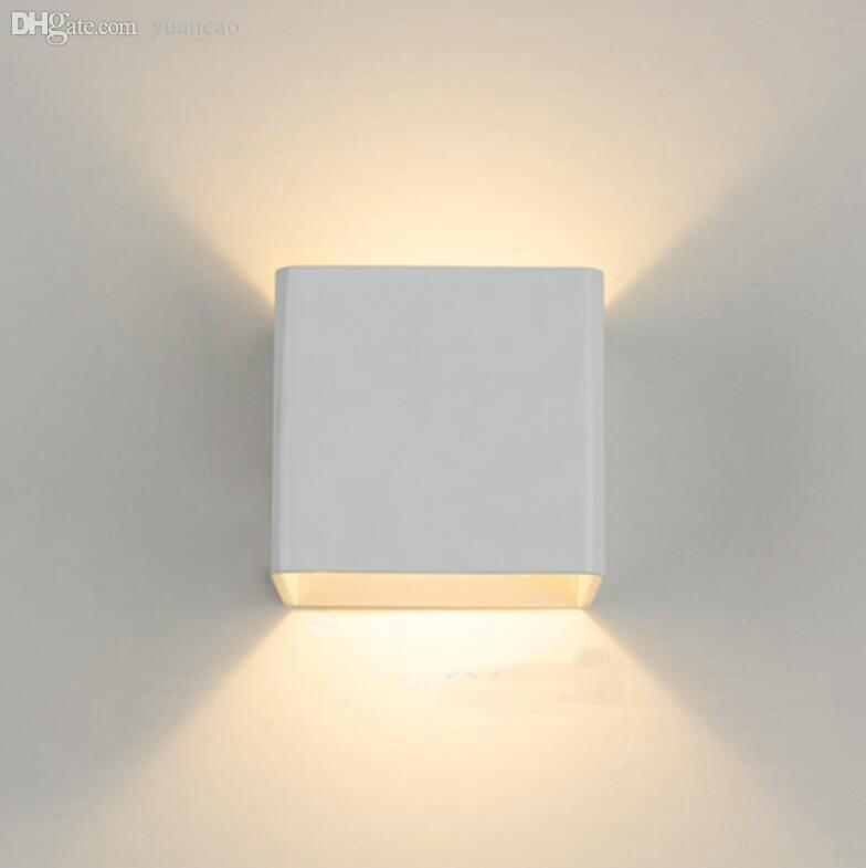 wholesale simple led wall lamp wall sconce white housing indoor foyer corridor lighting saloon lamp cheap wall lighting