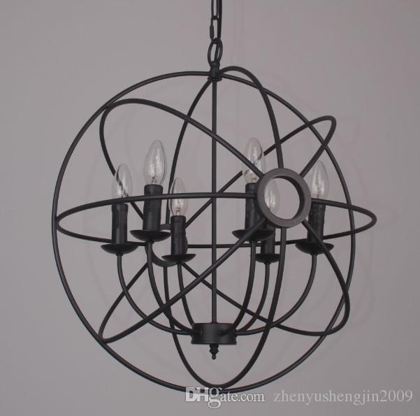 Sphere Chandelier Industrial Style Iron Sphere Chandelier