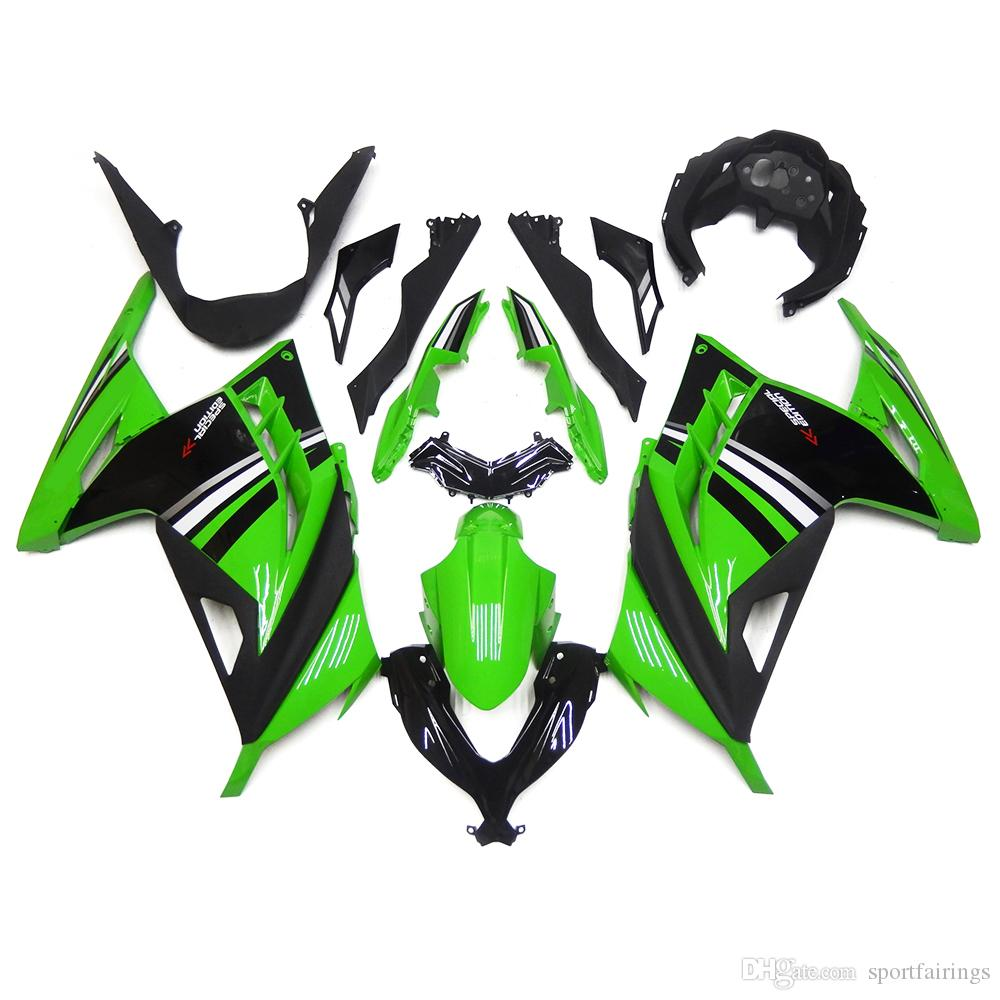 Customized Green Kawasaki Ninja Ex