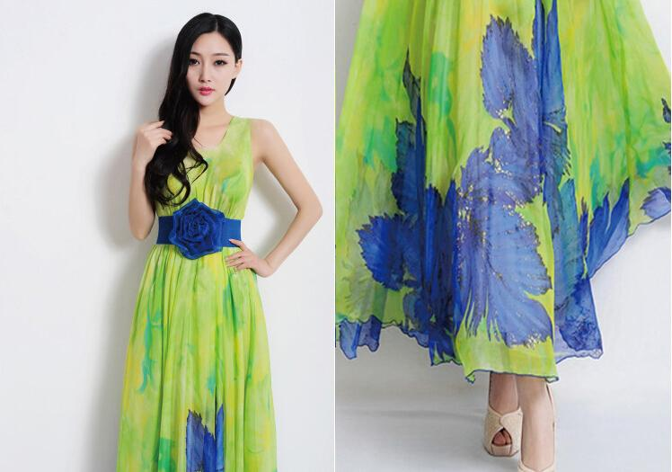 Summer Korea Fashion Sexy Dress Sleeveless Flower Print Elegant ...