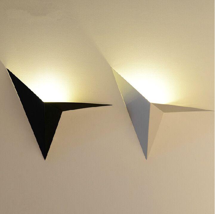 Modern Creative Iron Art Wall Lamp White Black Wall Lamp Modern