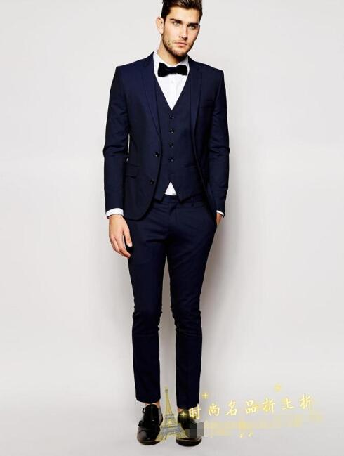 Fashion Men's Suits Simple Style Fashion Gentleman Slim Tuxedo