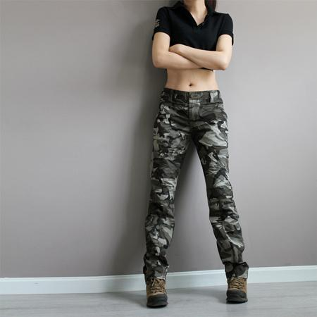 2018 New Fashion Plus Size Camouflage Trousers Camo Pants For Women Cargo Pants Women Man Army