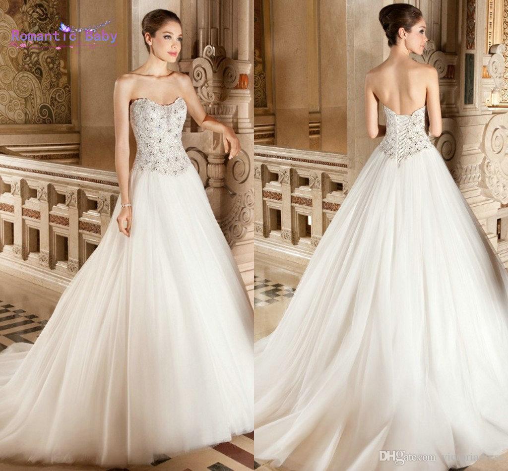 Wholesale Demetrios Wedding Dresses : Discount demetrios strapless wedding dresses a line ruched tulle