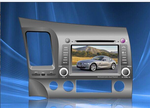 Special Car DVD Player For Honda-Civic (Left/right driving) With GPS, IPOD, Bluetooth, Steering Wheel Co