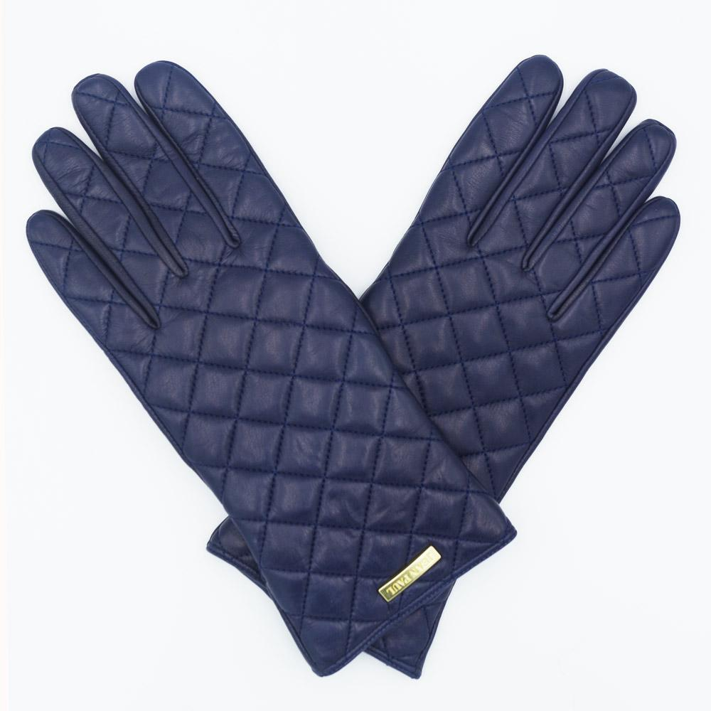 Ladies leather gloves blue - High Quality Ladies Leather Gloves Fashional Gird Gloves Lamb Nappa Genuine Leather Gloves
