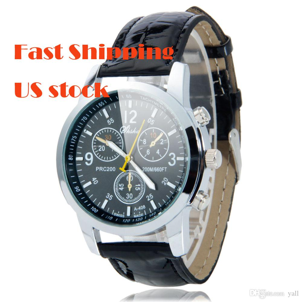 Clearance a408 fashionable men watches three eyes round women watches dial leather band wrist for Watches clearance