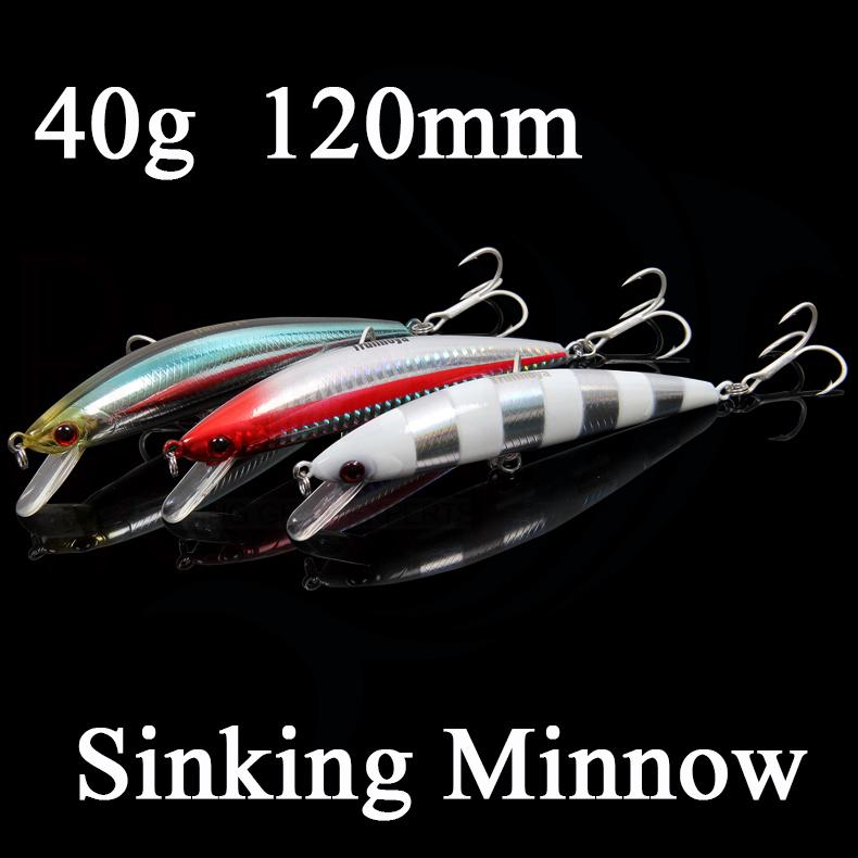 cheap fishing lures minnow sinking hard bait lure 40g 120mm, Fishing Bait