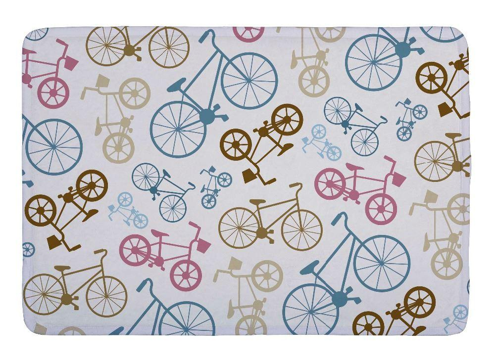 Floor Mat Vector Bicycle Texture Pop Art Print Non Slip Rugs ...