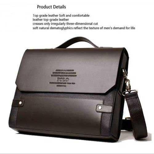 Fashion Men Bags New Desige Pu Leather Men Male Bag Office Bags ...
