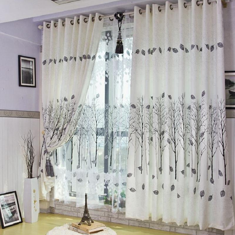 2017 Simple Curtains For Living Room Curtains Voile