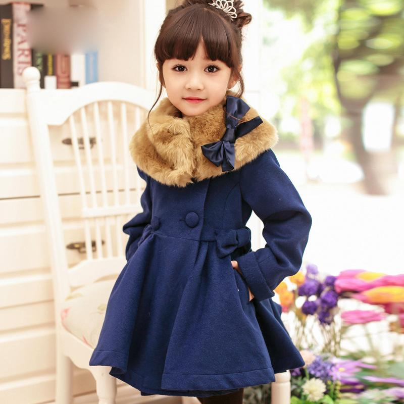 Girls Wool Dress Coat