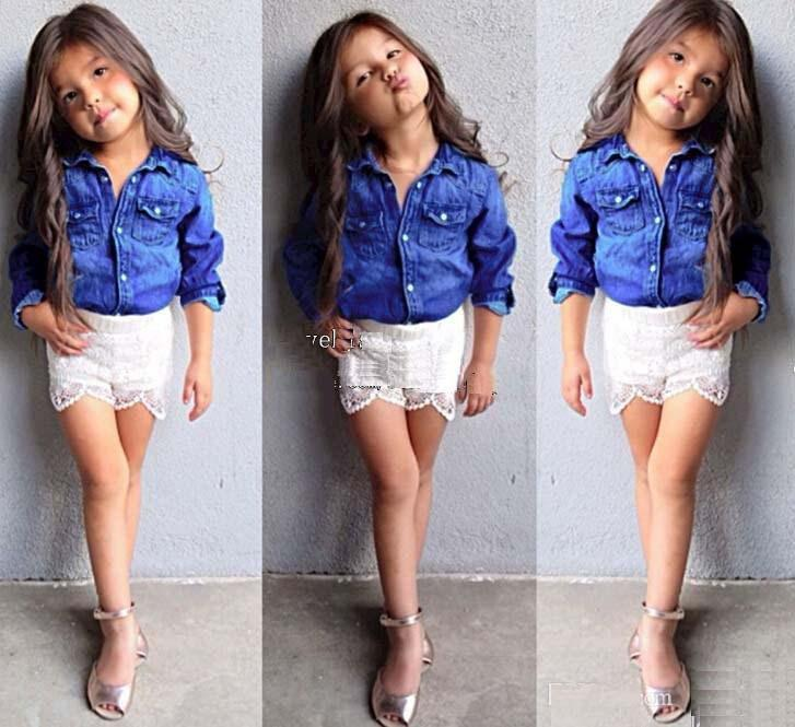Best Girls Outfits Children Clothes Kids Clothing Denim Jacket ...