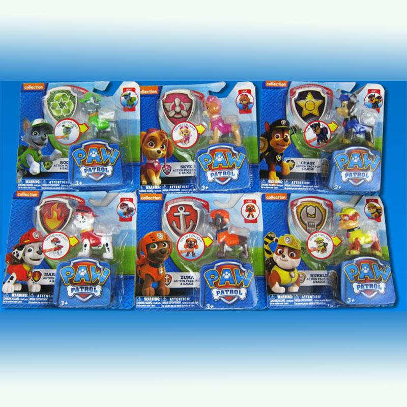 Paw patrol toys with shield skye marshall chase rocky rubble everest