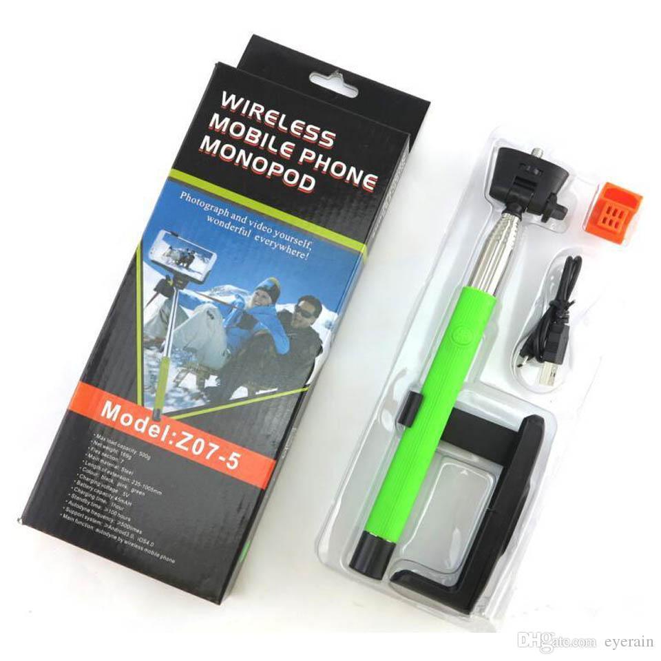 2017 z07 5 selfie sticks bluetooth wireless bluetooth monopod selfie stick telescopic extendable. Black Bedroom Furniture Sets. Home Design Ideas