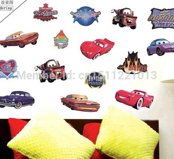 Lm7009 new arrival large size 50 70cm vintage pixar cars for Disney cars wall mural full wall huge