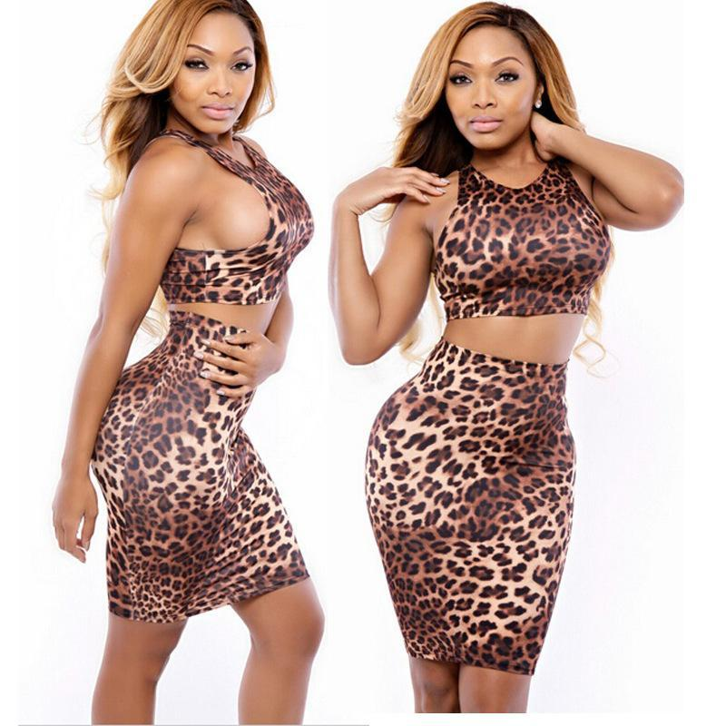 New Woman Lady Cool Hot Sexy Club Cocktail Dresses Mini Leopard ...