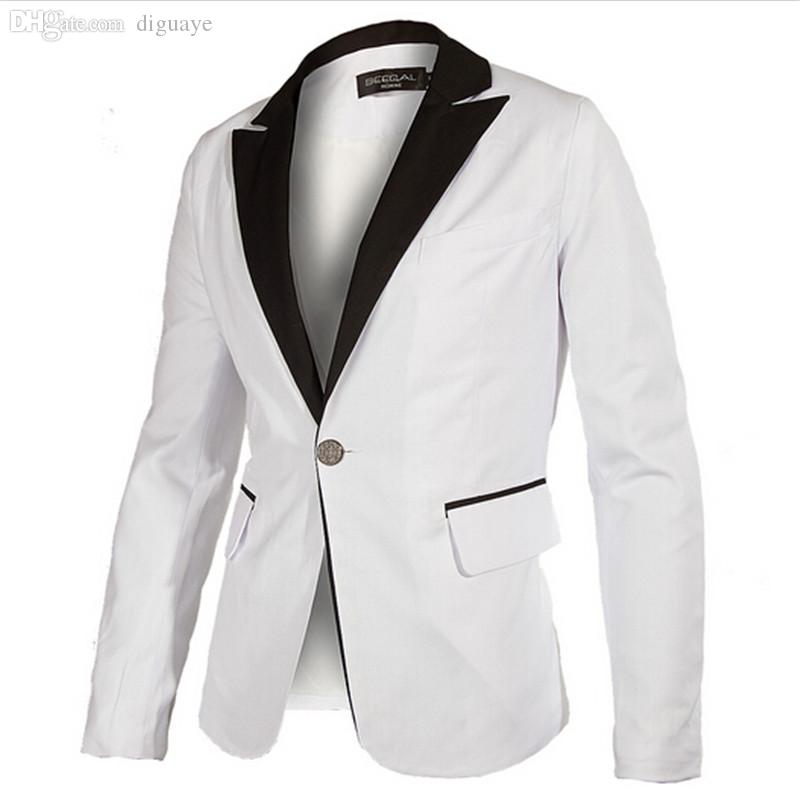 Best Wholesale Blazer Men 2016 New Brand Men'S Clothing White ...