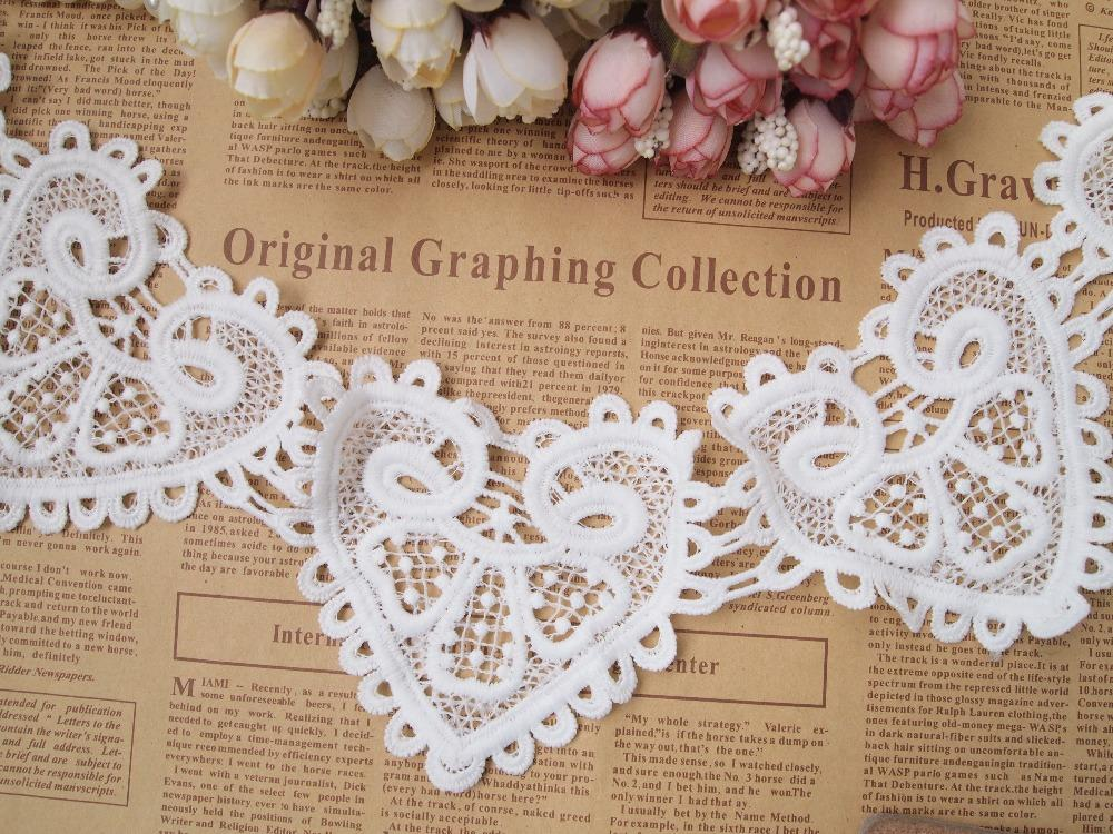 Lace White Venise Lace Trim Embroidery Scalloped Lace for Bridal, Millinery, Wedding Gowns, Victorian - 10 yards/Lot - Free Shipping