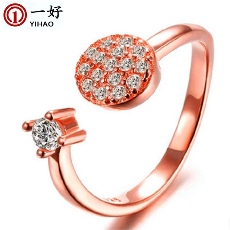 2015 Band Rings Real Rings Casamento Diamond Jewelry From The Stars Engagemen