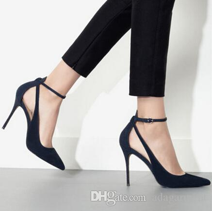 fashion womens ladies pumps high heel party high heels shoes buckle pointed dress shoes us size 48 weomen high heel shoes evening shoes dress shoes