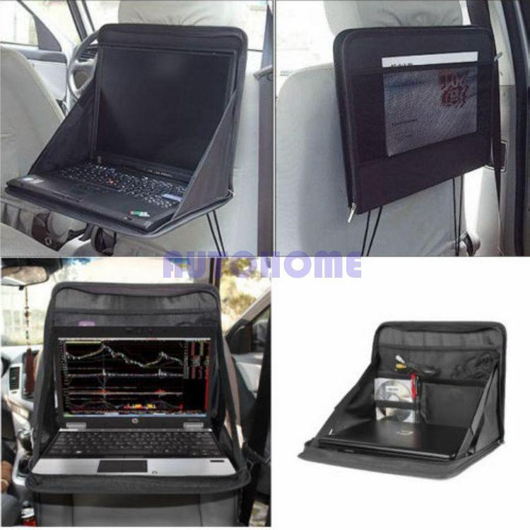 2017 1 x car laptop holder tray bag mount back seat auto for Housse exterieur table