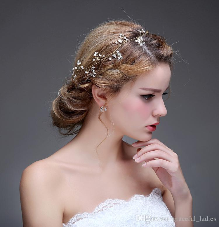 gold wedding hair accessories jewelry for brides bride