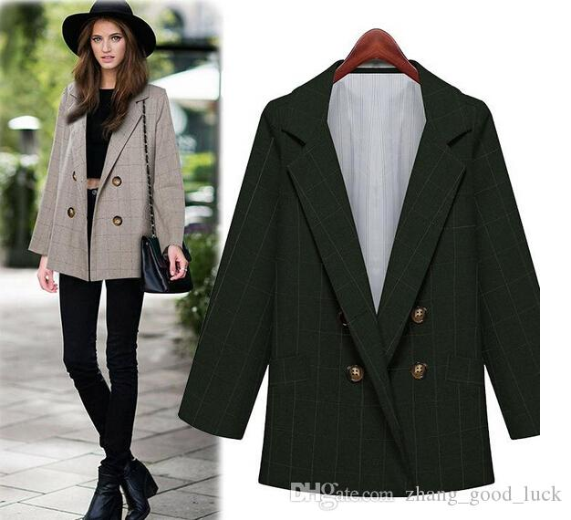 Hot!autumn And Winter Long Sleeved Double Breasted Suit Women ...
