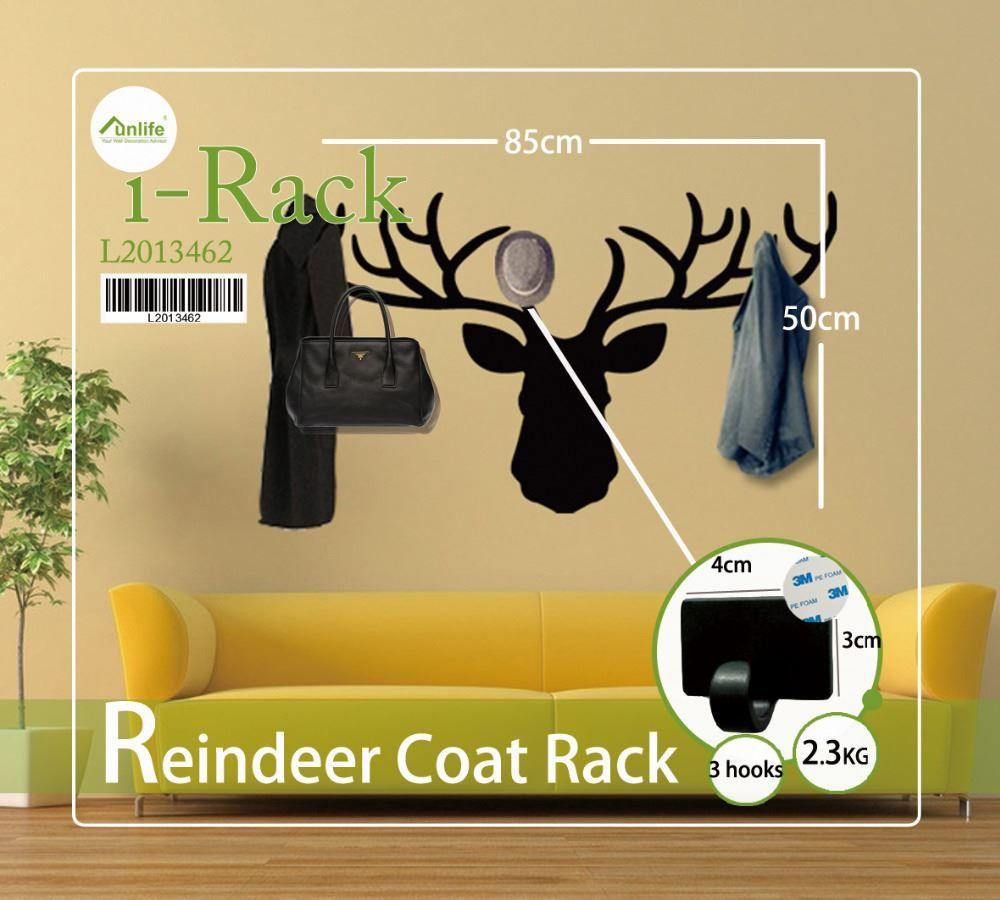 Funlife Deer Reindeer Coat Rack