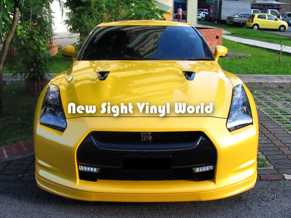2017 high quality yellow gloss wrap yellow gloss car vinyl roll air free bubble for car decals. Black Bedroom Furniture Sets. Home Design Ideas