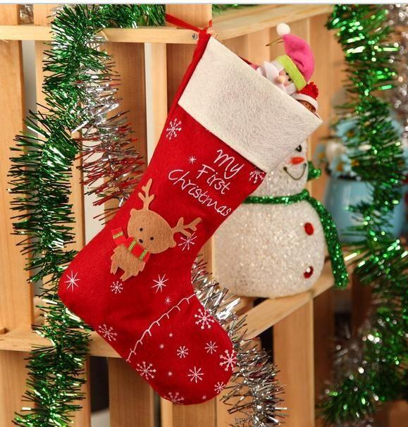Hot Christmas Gifts For Children Deer Christmas Stockings