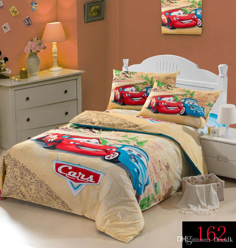 Cartoon Red Race Car Bedding Sets, Bedclothes Sets 100% Cotton Bed Linen  Cover Red Cars Racing Boys Duvet Cover Twin Size Home Textiles Bedding Set  ...