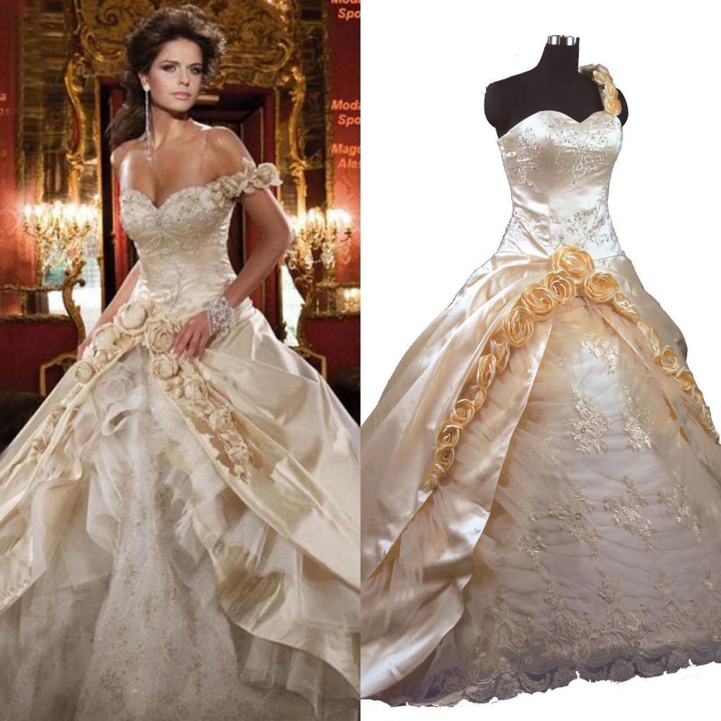 Vintage victorian ball gown wedding dresses sweetheart for Vintage victorian wedding dresses
