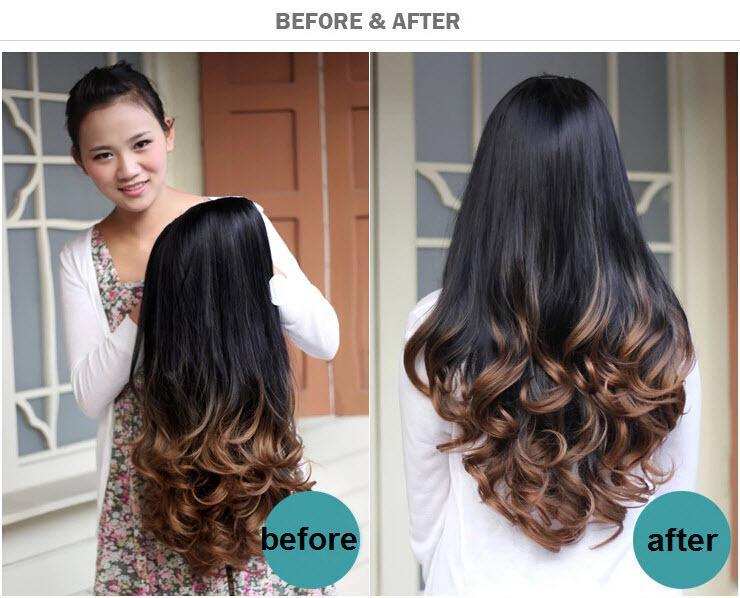 Marvelous Fashion Ombre Wig Hair Fall Dip Dye Half Wig Curly Hair Wigs Two Short Hairstyles For Black Women Fulllsitofus