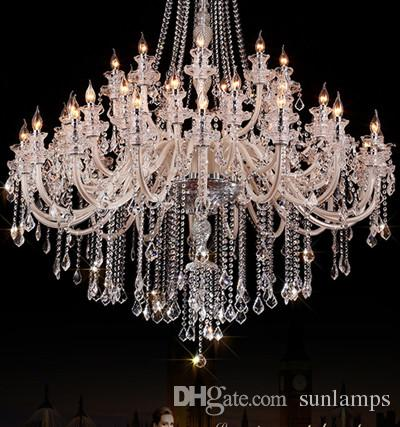 45 Lights Church Led Candle Chandelier Crystal Lighting Extra – Candle Crystal Chandelier