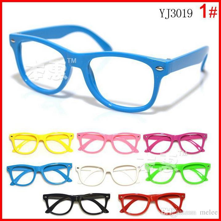 2015 new arrival children candy colorful glasses frame boys girls no lens glasses kids cool spectacle
