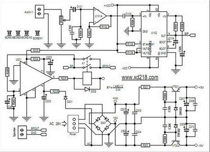 100w tda7294 mono audio power amplifier board ka5532 aec