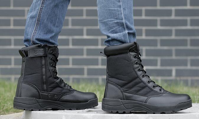 Online Cheap 07 Military Boots Desert High Top Hiking Boots ...