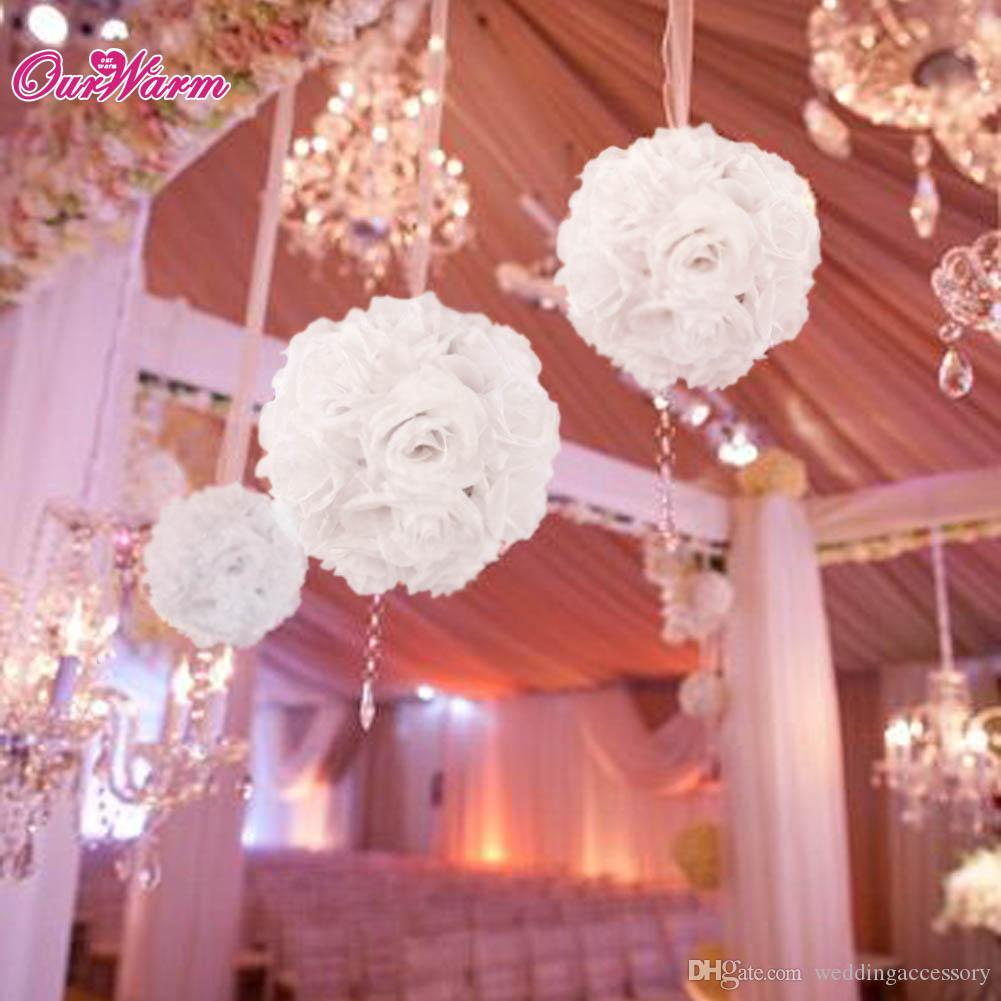 Best Quality 18cm Diameter Silk Rose Flower Ball