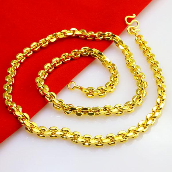 Wholesale very realistic gold necklace men do not fade for Does gold plated jewelry fade