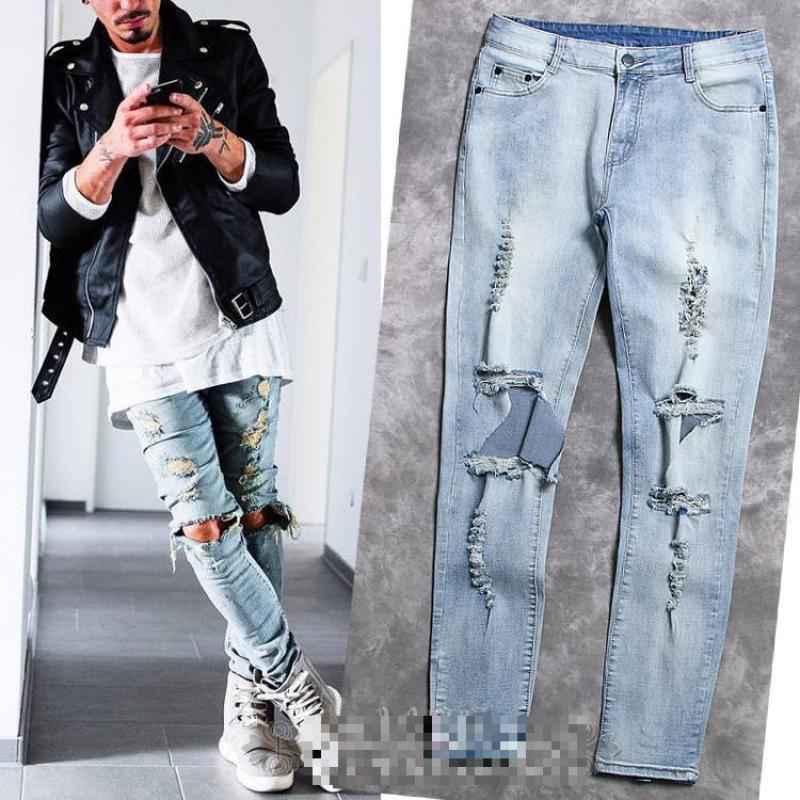 Discount Fashion Brand Fear Of God Broken Demin Destroy Jeans Men ...