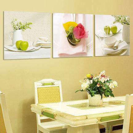 Kitchen decorative wall panels fruit rose flower canvas for Art cuisine evolution 10 piece cooking set