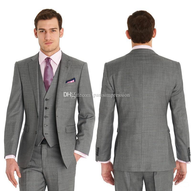Best Dark Gray Fresh Wool Suit Cheap Men Suits Fashion Man Suits ...